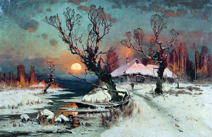 Julius Sergius von Klever - Winter Sun Dawn, 1891